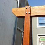 union columna y viga madera