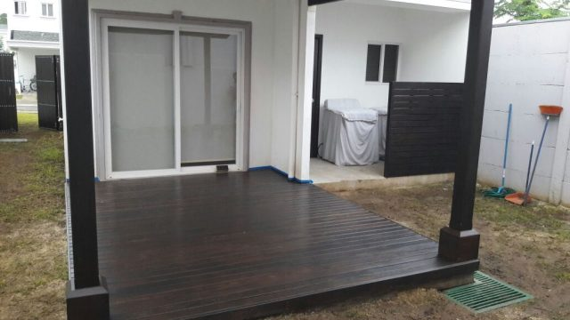 piso madera para patio exterior